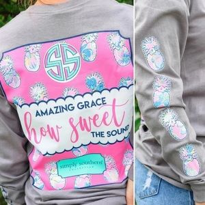 Simply Southern Amazing Grace Pink Pineapple Tee